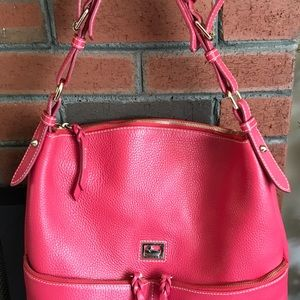 Dooney & Bourke Pink Pebbled Leather